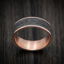 14K Rose Gold and Snake Skin Tantalum Mens Band
