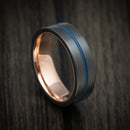 Black Zirconium and Gold Sleeve Band with Cerakote Inlay