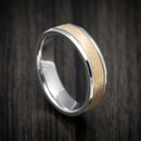 Two-tone 14K Yellow and White Gold Wedding Band