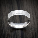 14K White Gold Hammered Classic Wedding Band
