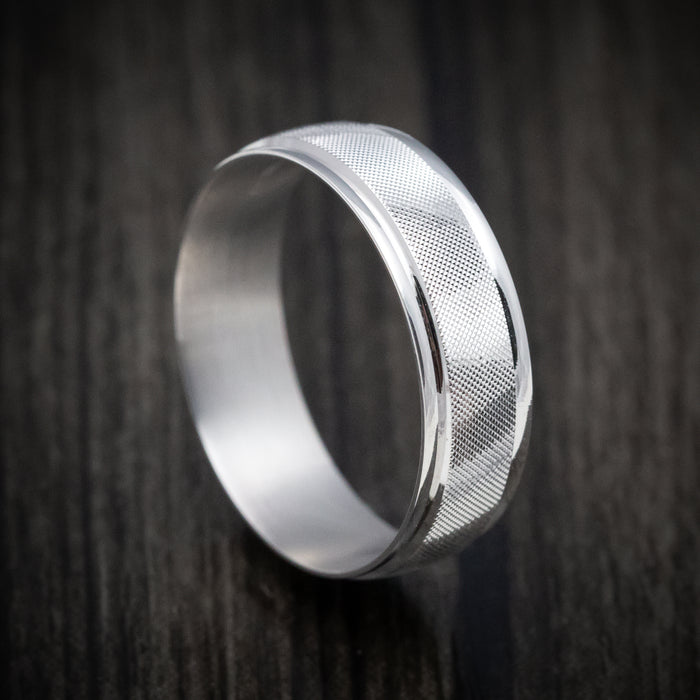 14K White Gold Classic Florentine Wedding Band