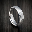14K White Gold Classic Hammered Wedding Band