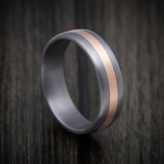 Tantalum and 14K Rose Gold Inlay Ring
