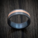 Blackened Tantalum and 14K Rose Gold Inlay Ring