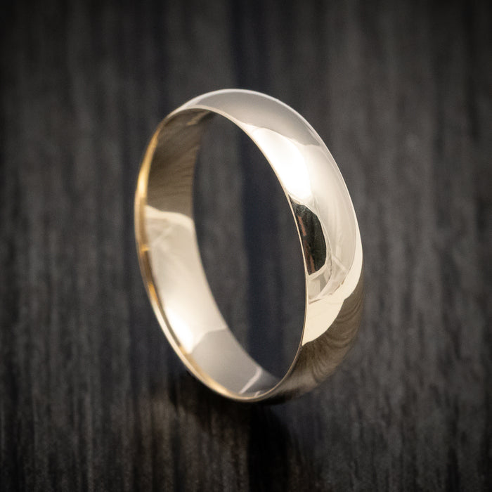Classic Gold 5mm Mens Wedding Band
