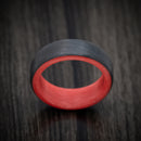Carbon Fiber Ring with Red Glow Sleeve
