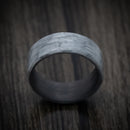 Silver Texalium Ring with Carbon Fiber Sleeve