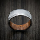 Tantalum and Gibeon Meteorite Ring with Wood Sleeve