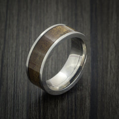 Wood Ring and Titanium Ring inlaid with CANXAN BURL WOOD Custom Made to Any Size and Optional Wood Types - Revolution Jewelry  - 3