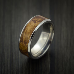 Wood Ring and Titanium Ring inlaid with DESERT IRONWOOD BURL WOOD Custom Made to Any Size and Optional Wood Types - Revolution Jewelry  - 3