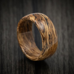 Whiskey Barrel Wood Marbled Wood Ring Custom Made Band