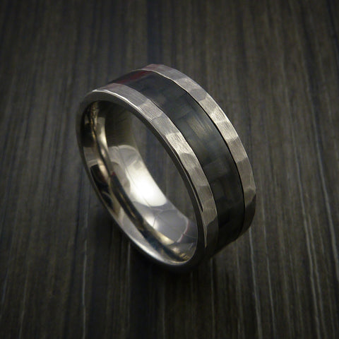 Carbon Fiber Inlay and Titanium Ring Style Weave Pattern