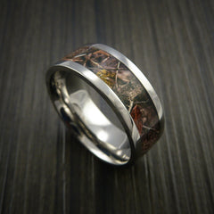 King's Camo WOODLAND SHADOW and Titanium Ring Camo Style Band Made Custom - Revolution Jewelry  - 1