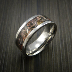 King's Camo WOODLAND SHADOW and Titanium Ring Camo Style Band Made Custom - Revolution Jewelry  - 3
