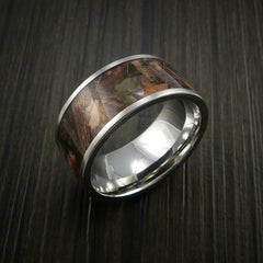 King's Camo WOODLAND SHADOW and Cobalt Chrome Ring Traditional Style Band Made Custom - Revolution Jewelry  - 3
