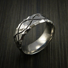 Titanium Celtic Rock Hammer Finish Band Color Infinity Design Ring Any Size - Revolution Jewelry  - 3