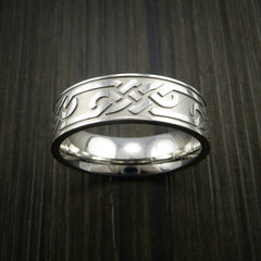 Cobalt Chrome Celtic Band Trinity Symbolic Wedding Infinity Ring Custom Made