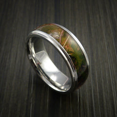 King's Camo MOUNTAIN SHADOW and Cobalt Chrome Ring Traditional Style Band Made Custom - Revolution Jewelry  - 1