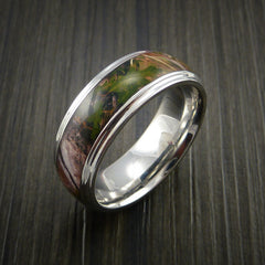 King's Camo MOUNTAIN SHADOW and Cobalt Chrome Ring Traditional Style Band Made Custom - Revolution Jewelry  - 3