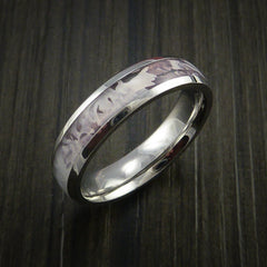 King's Camo SNOW SHADOW and Cobalt Chrome Ring Camo Style Band Made Custom - Revolution Jewelry  - 3