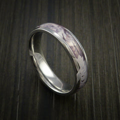 King's Camo SNOW SHADOW and Cobalt Chrome Ring Camo Style Band Made Custom - Revolution Jewelry  - 1