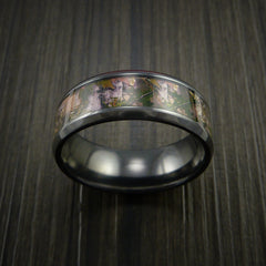 King's Camo MOUNTAIN SHADOW and Black Zirconium Ring Traditional Style Band Made Custom - Revolution Jewelry  - 2