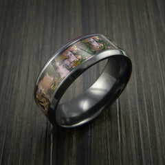 King's Camo MOUNTAIN SHADOW and Black Zirconium Ring Traditional Style Band Made Custom - Revolution Jewelry  - 4