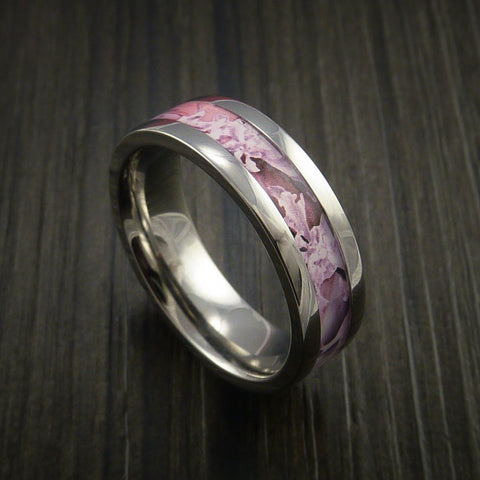 King's Camo Pink Shadow and Titanium Ring Camo Style Band Made Custom