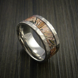 King's Camo Field Shadow and Titanium Ring Traditional Style Band Made Custom