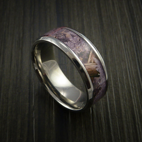 King's Camo Desert Shadow and Titanium Ring Camo Style Band Made Custom