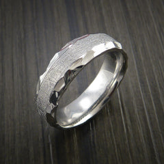 Gibeon Meteorite in Cobalt Chrome Wedding Band Made to any Sizing and Width - Revolution Jewelry  - 4
