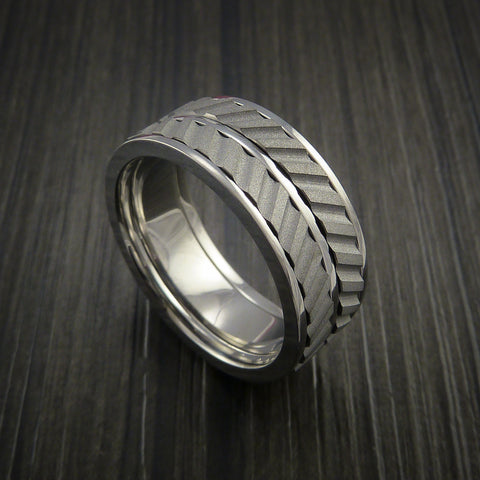 Titanium Dual Inlay Spinner Unique Titanium Band