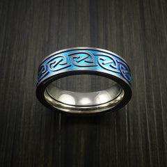 Titanium Anodized Celtic Band Infinity Symbolic Wedding Ring Custom Made - Revolution Jewelry  - 2
