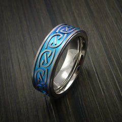 Titanium Anodized Celtic Band Infinity Symbolic Wedding Ring Custom Made - Revolution Jewelry  - 4