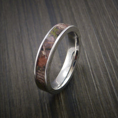 King's Camo WOODLAND SHADOW and Cobalt Chrome Ring Camo Style Band Made Custom - Revolution Jewelry  - 3