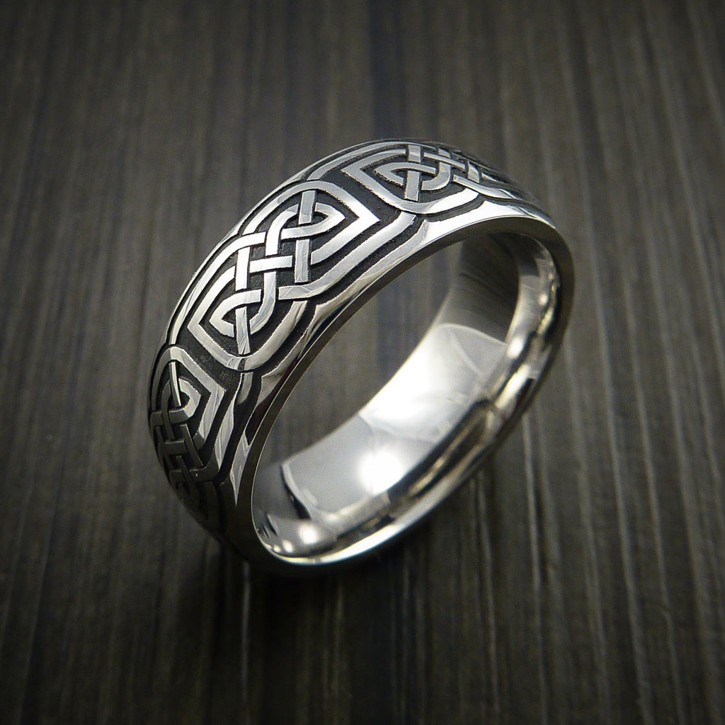 Cobalt Chrome Celtic Wedding Ring Celtic Knot Custom Made