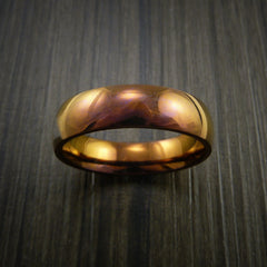 Titanium and Bronze Band Custom Made Ring to Any Sizing and Finish 3-22 - Revolution Jewelry  - 2