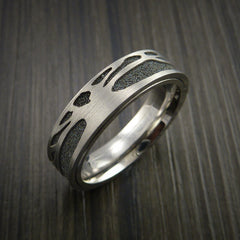 Titanium Spinner Tree Ring with Textured Background - Revolution Jewelry  - 4