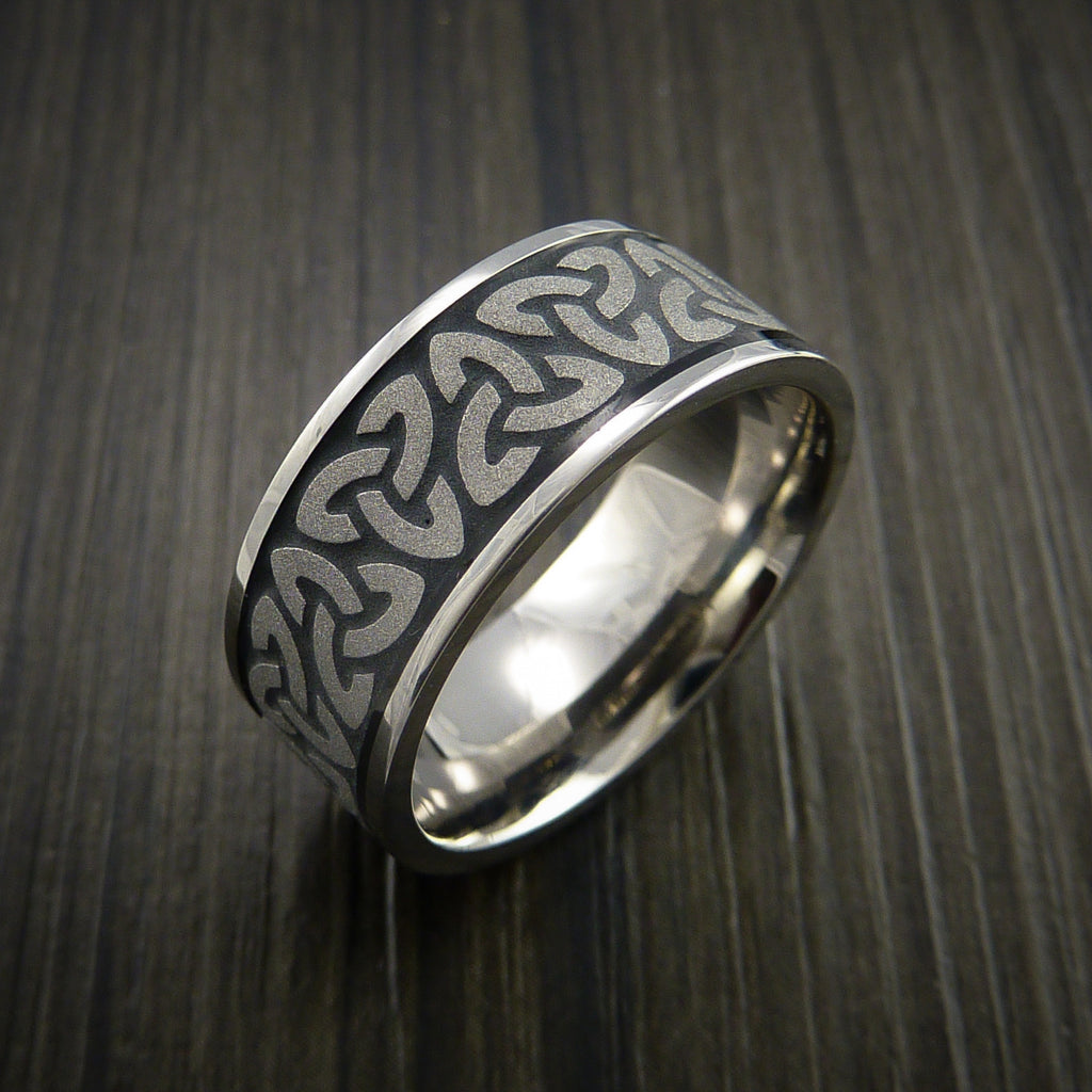 Wedding Ring With Infinity Symbols Engraving