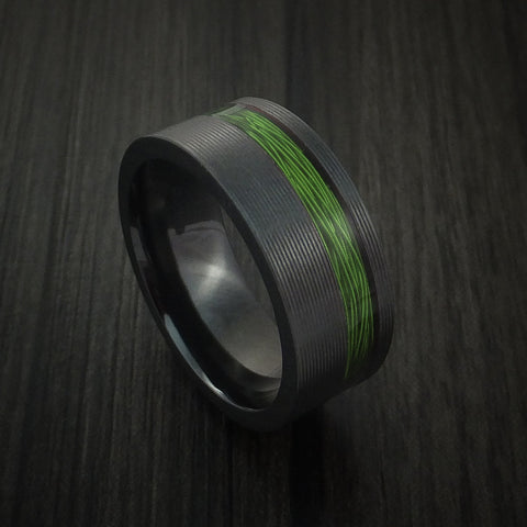 Black Zirconium and Wire Ring Custom Made Choose your Color