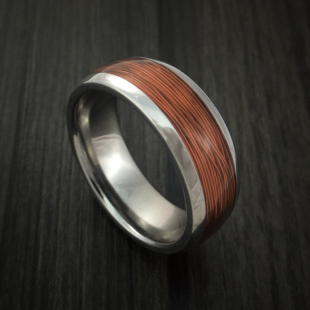 Titanium and Wire Ring Custom Made Choose your Color - Revolution Jewelry  - 1