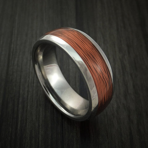 Titanium and Wire Ring Custom Made Choose your Color