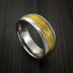 Titanium and Wire Ring Custom Made Choose your Color - Revolution Jewelry  - 7