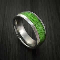 Titanium and Wire Ring Custom Made Choose your Color - Revolution Jewelry  - 8