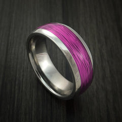 Titanium and Wire Ring Custom Made Choose your Color - Revolution Jewelry  - 10