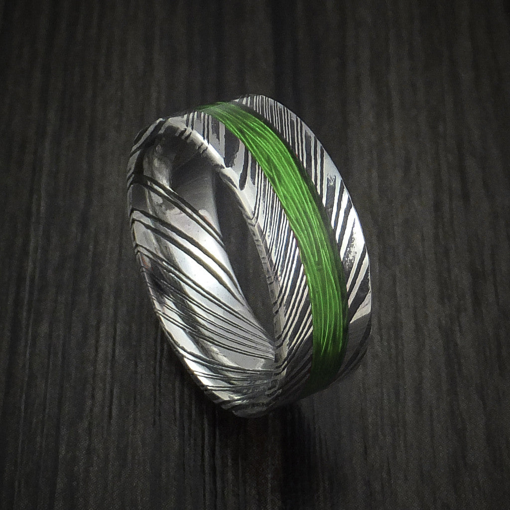 Kuro Damascus Steel and Wire Ring Custom Made Choose Your Color ...