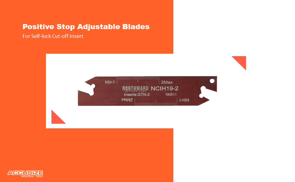 Accusize Industrial Tools 2402 Positive Stop Adjustable Blades For Self-lock Cut-off Insert