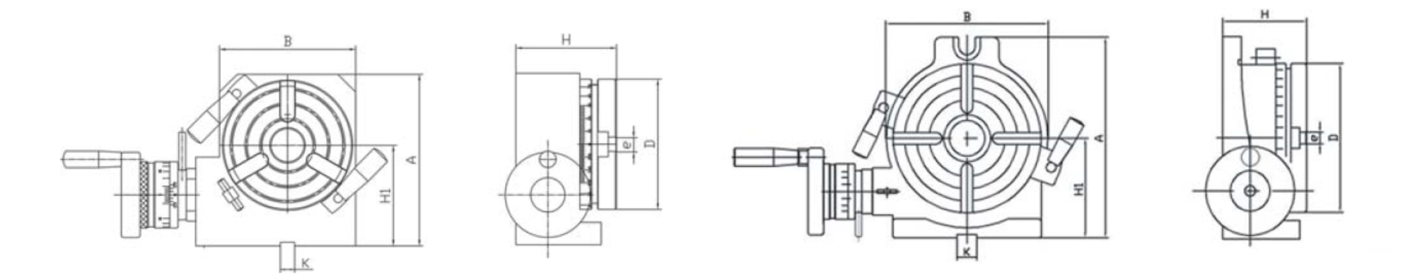 Diagram of HORIZONTAL/VERTICAL PRECISION ROTARY TABLE