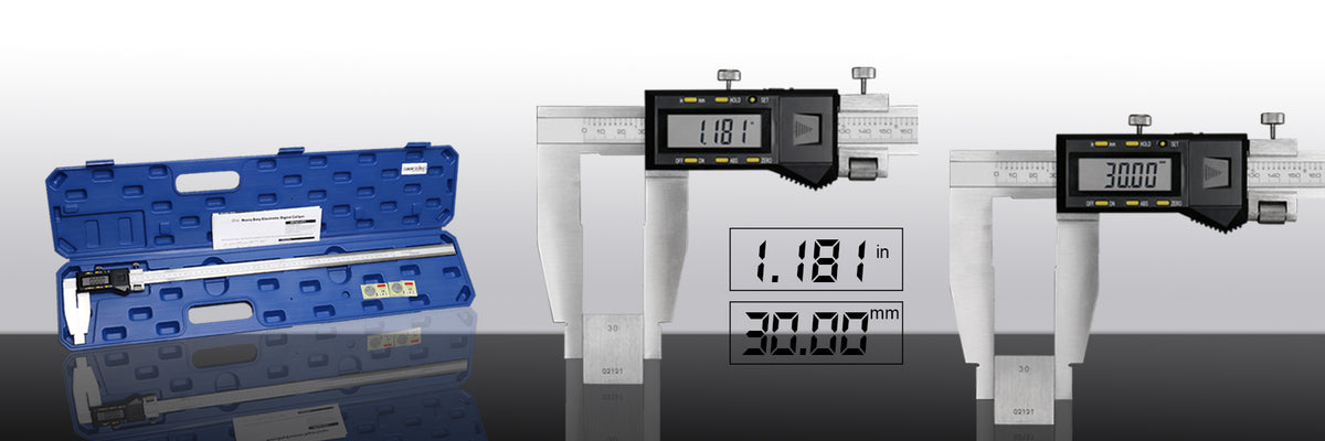 Accusize Heavy Duty Electronic Digital Calipers, in/mm