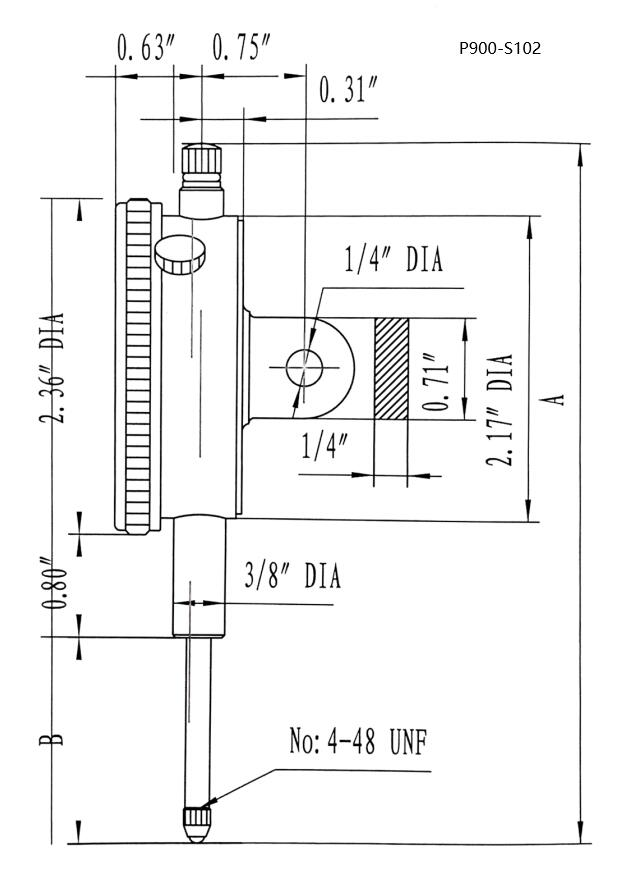 Specifications of Accusize Industrial Tools P900-S102 0-1 inch x 0.001 in AGD2 Style Dialing Indicator